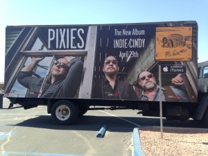 The Pixies Truck Advertising