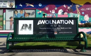 Awolnation Bus Bench