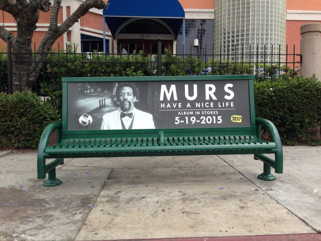 Murs Bus Bench Los Angeles