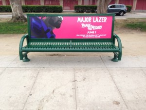 Major Lazer Bus Benches