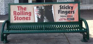 The Rolling Stones Bus Bench Advertising Los Angeles