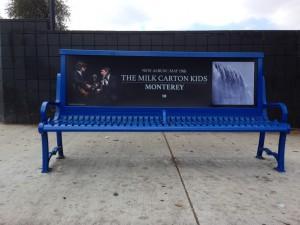 The Milk Carton Kids Bus Bench Advertising