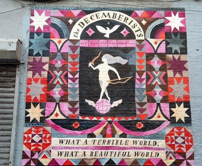 The Decemberists Mural