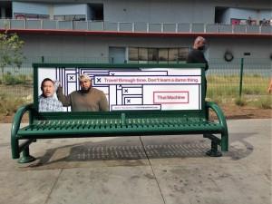 Thai Machine Bus Bench Ad