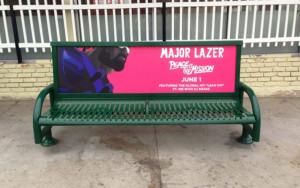 Major Lazer Bus Bench