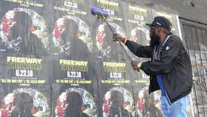 Freeway Rapper Wild Posting New York