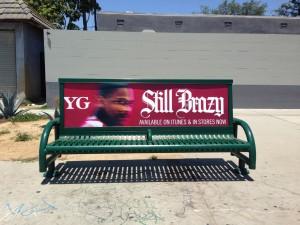 Major Lazer Bus Bench Ad
