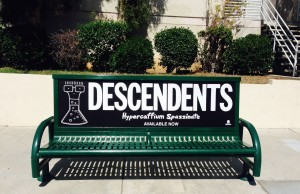 The Descendents Bus Bench Ad