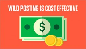 Wild Posting is Cost Effective