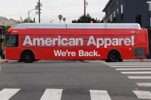 American Apparel Bus Wrap