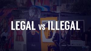 Illegal vs Legal Wild Posting